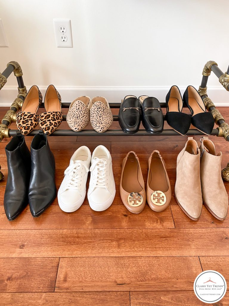 My Fall 2020 Neutral Capsule Wardrobe - clothes rack shoes
