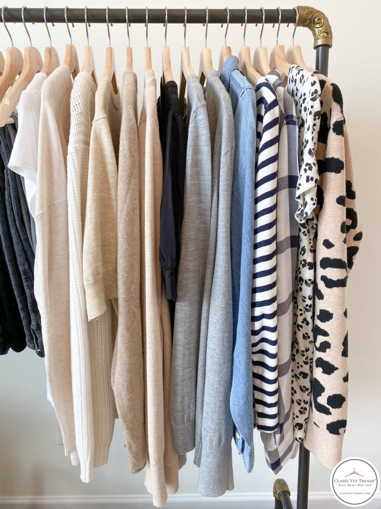 My Fall 2020 Neutral Capsule Wardrobe - clothes rack tops