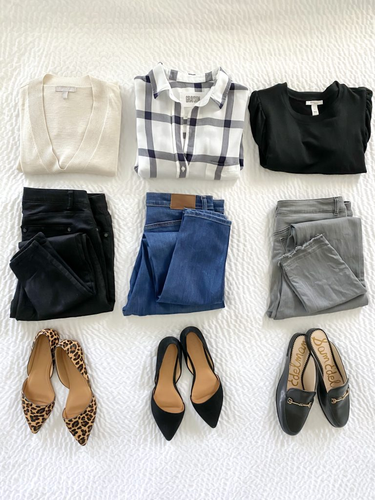 9 PIECES 30 OUTFITS FLATLAY