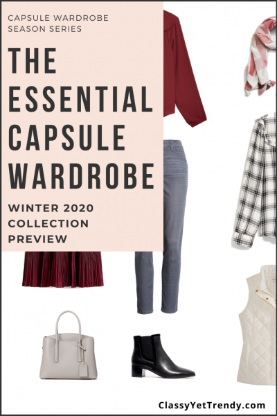 Essential Capsule Wardrobe Winter 2020 Sneak Peek