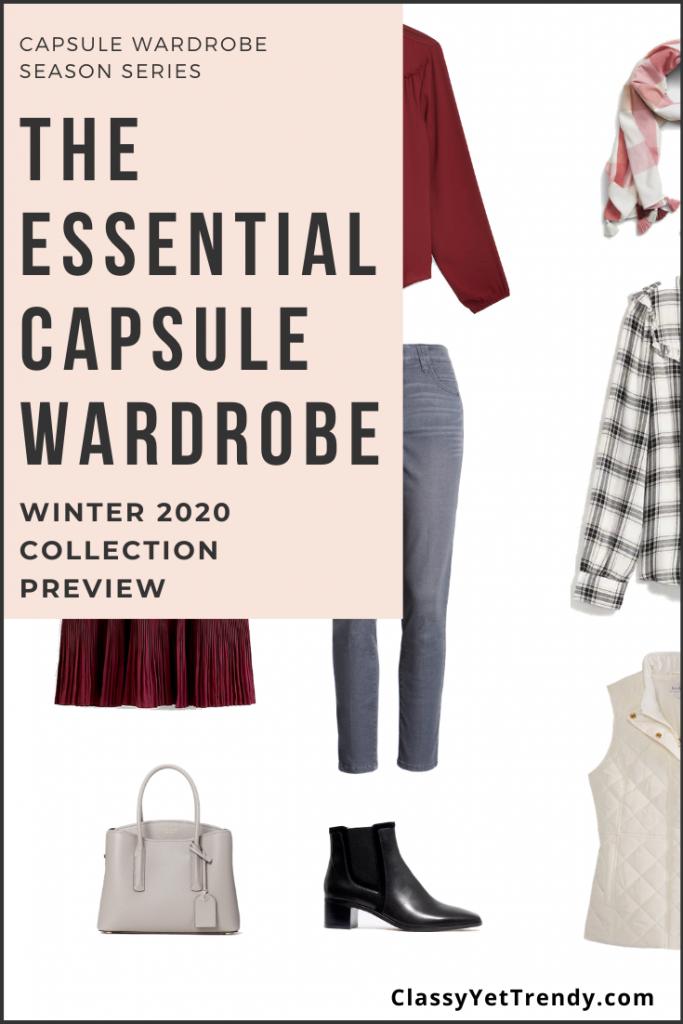 Essential Capsule Wardrobe Winter 2020 Sneak Peek