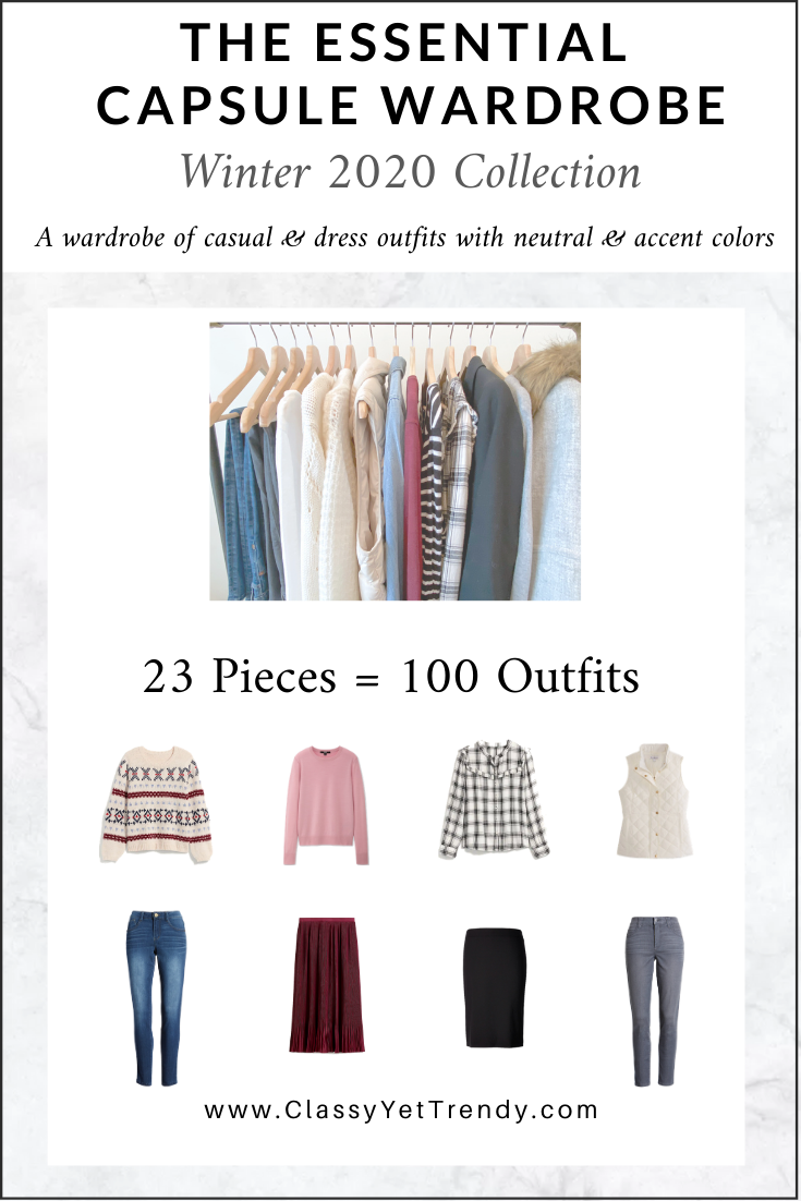 Essential Capsule Wardrobe Winter 2020 cover