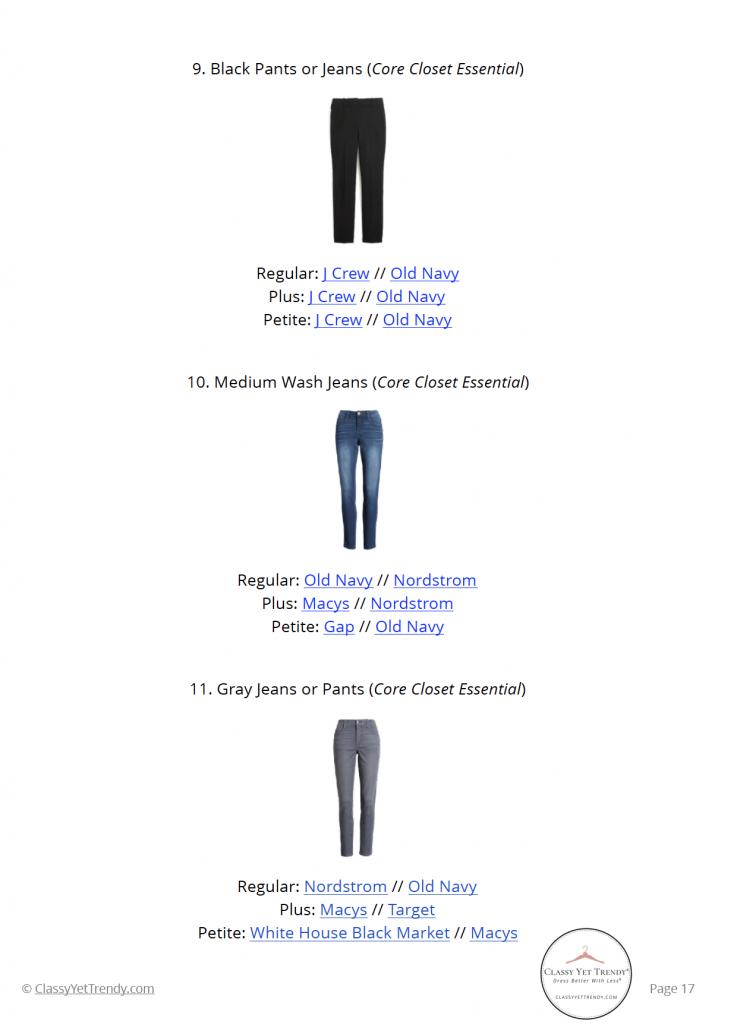 Essential Capsule Wardrobe Winter 2020 - pg 17