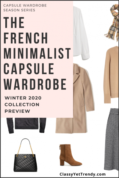 French Minimalist Capsule Wardrobe Winter 2020 Pin