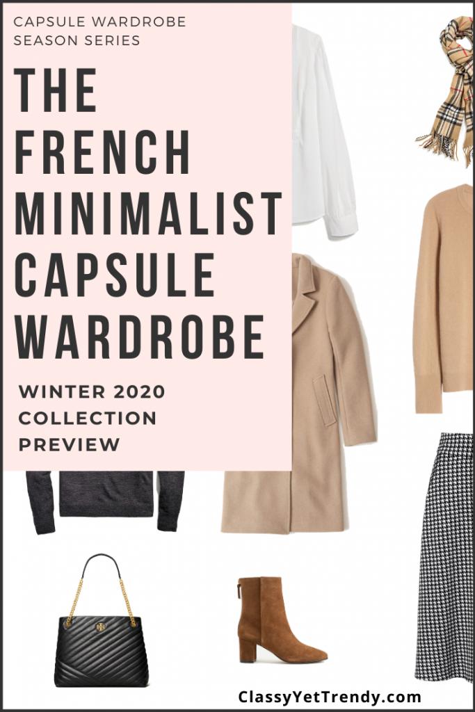 French Minimalist Capsule Wardrobe Winter 2020 Pin