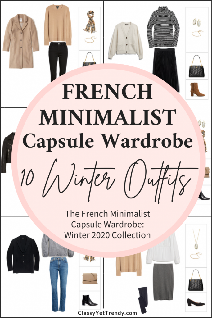 French Minimalist Capsule Wardrobe Winter 2020 Preview + 10 Outfits