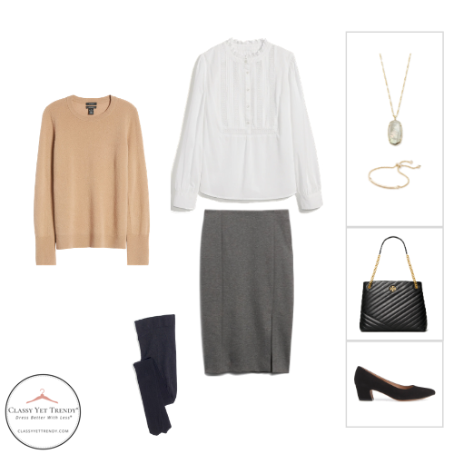 French Minimalist Capsule Wardrobe Winter 2020 - outfit 4
