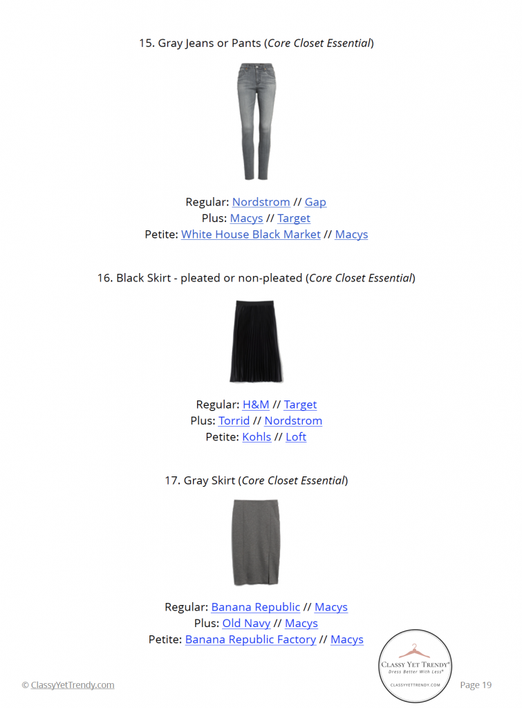 French Minimalist Capsule Wardrobe Winter 2020 - pg 19