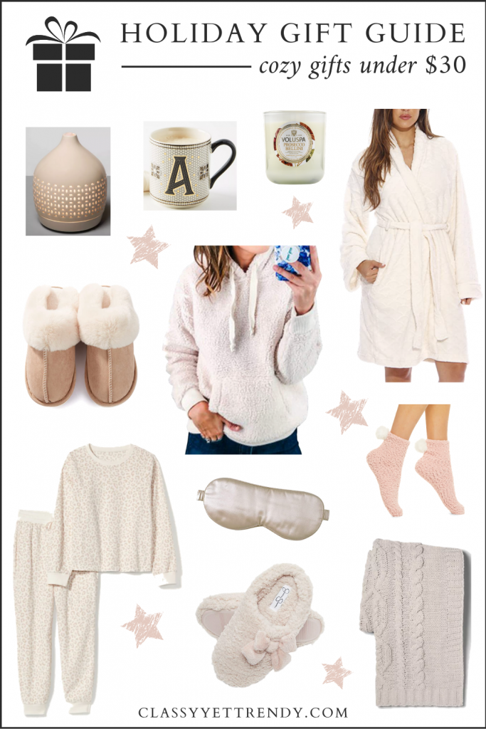 HOLIDAY GIFT GUIDE 2020-COZY GIFTS UNDER $30