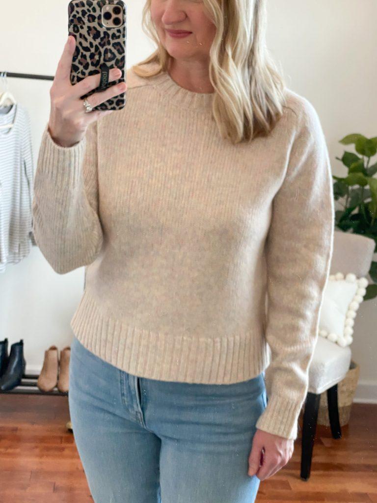 Madewell J Crew Try-On Nov20 - Alpaca Sweater