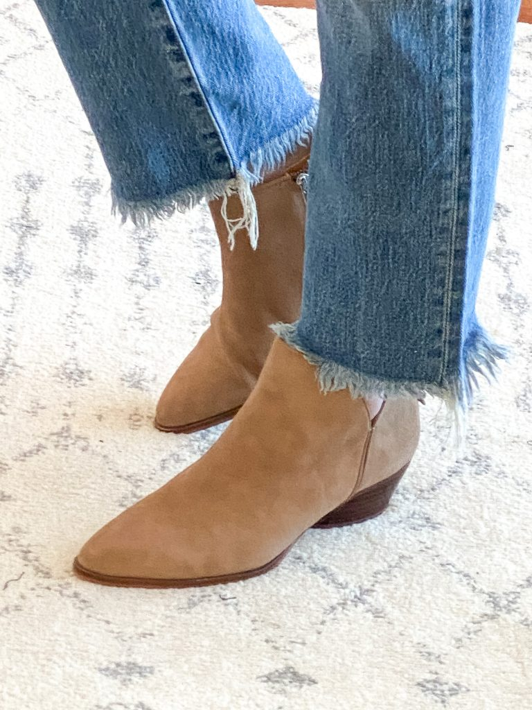 Madewell J Crew Try-On Nov20 - Franco Sarto Ankle Boots