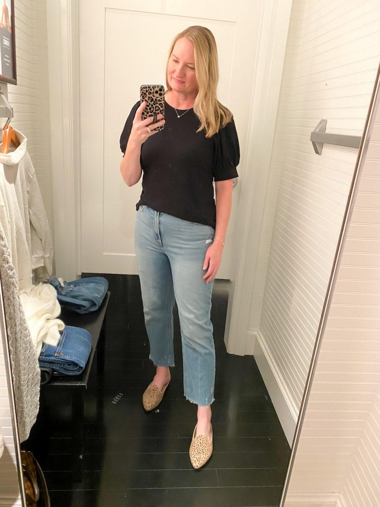 Madewell Saks Express Abercrombie Try-on Session - Ankle Straight Jeans