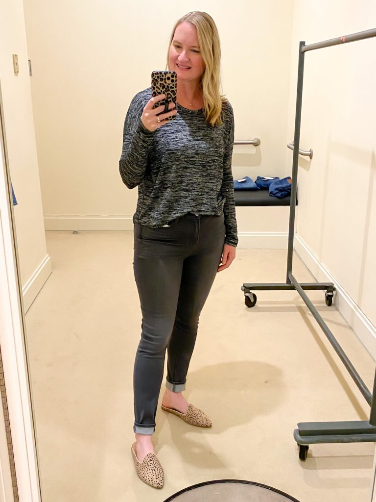 Madewell Saks Express Abercrombie Try-on Session - Paige Jeans Rag Bone Hudson Tee