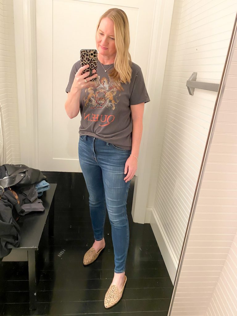 Madewell Saks Express Abercrombie Try-on Session - Queen Tee