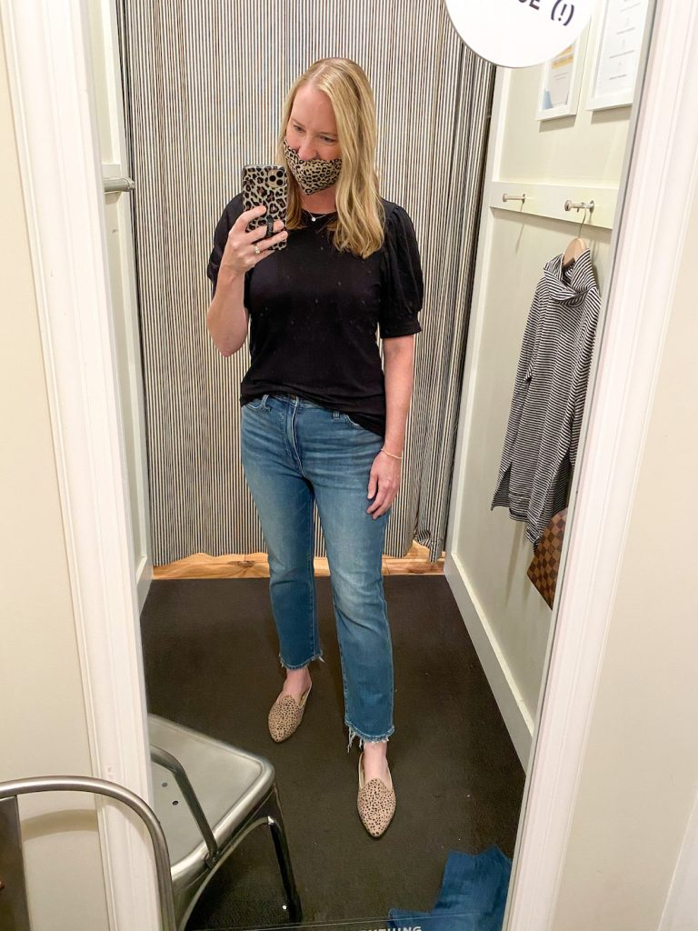 Madewell Saks Express Abercrombie Try-on Session - Slim Demi Boot Jeans