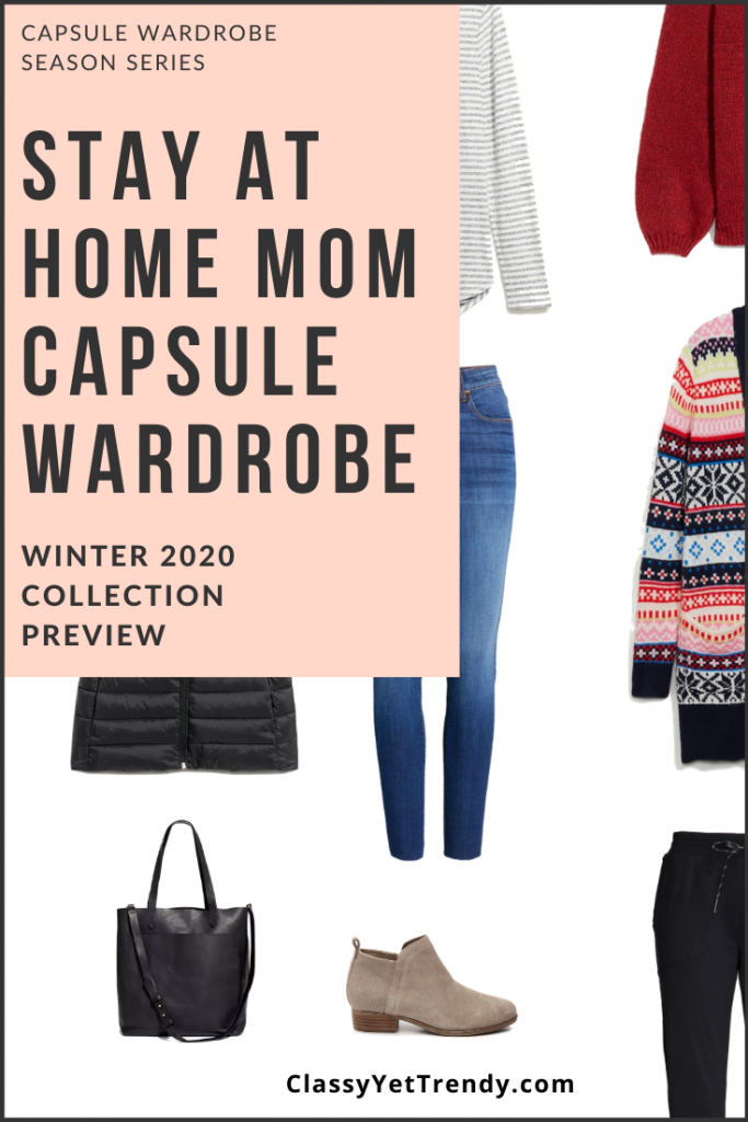 Stay At Home Mom Capsule Wardrobe Winter 2020 Pin