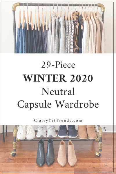 29-Piece Winter 2020 Neutral Casual Athleisure Capsule Wardrobe pin1