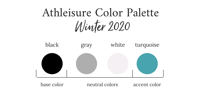 Athleisure Winter 2020 Color Palette