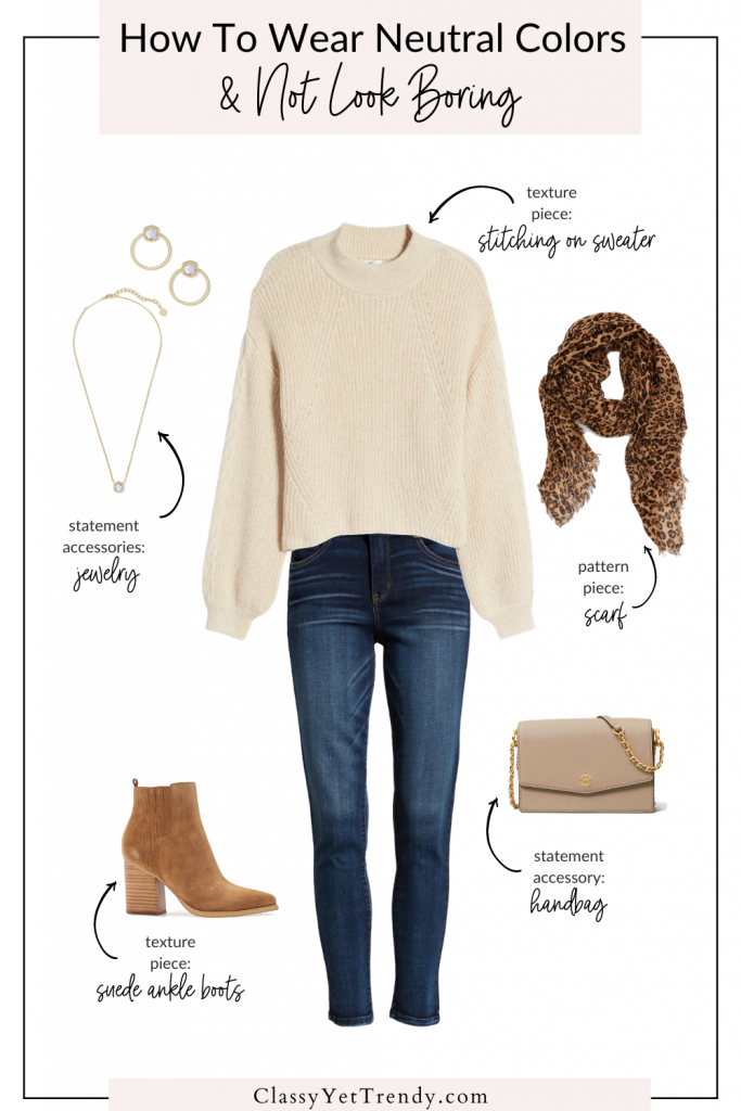 How To Wear Neutral Colors - Outfit Sample