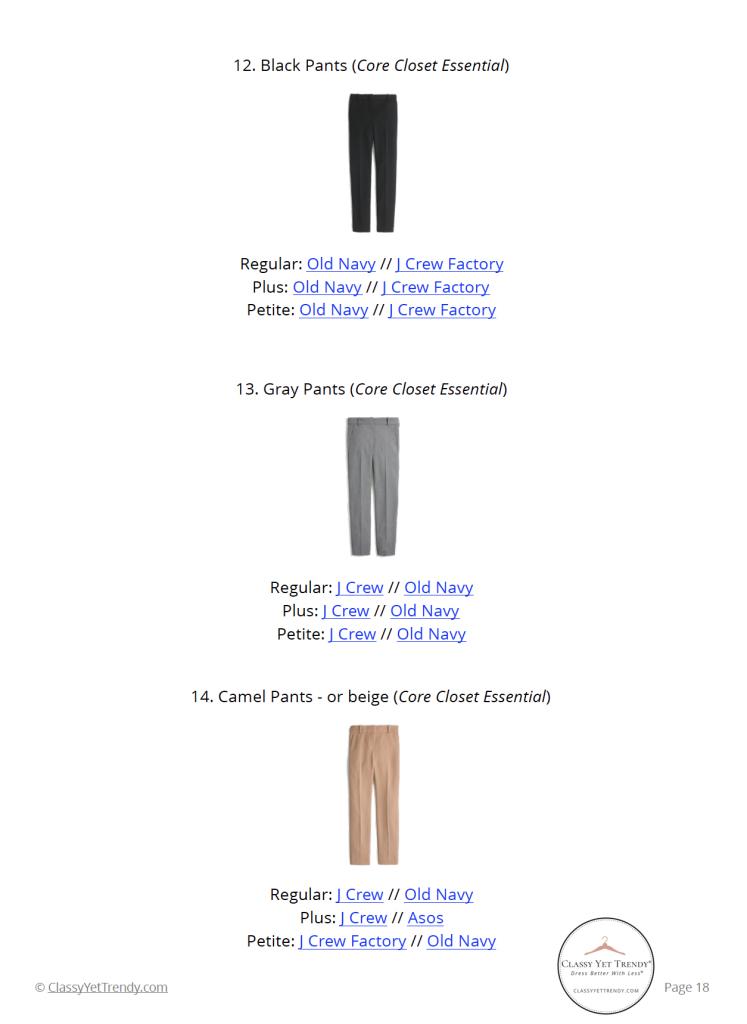 Workwear Capsule Wardrobe Winter 2020 - pg 18