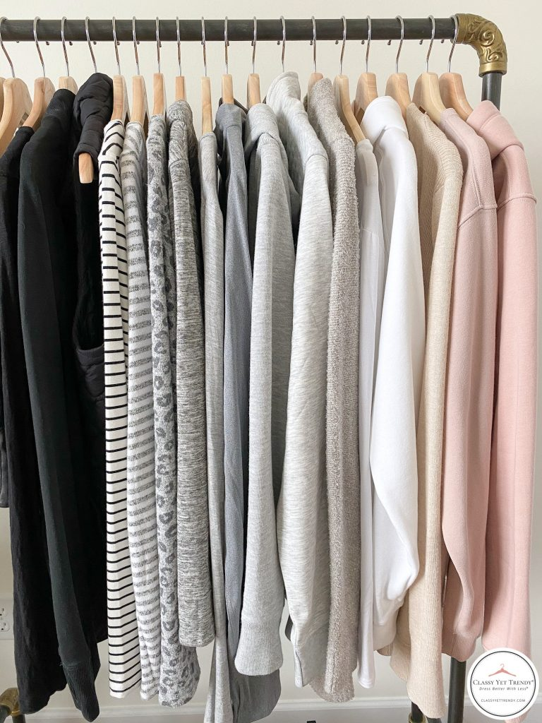 26 Piece Winter 2020 Athleisure Capsule Wardrobe - tops