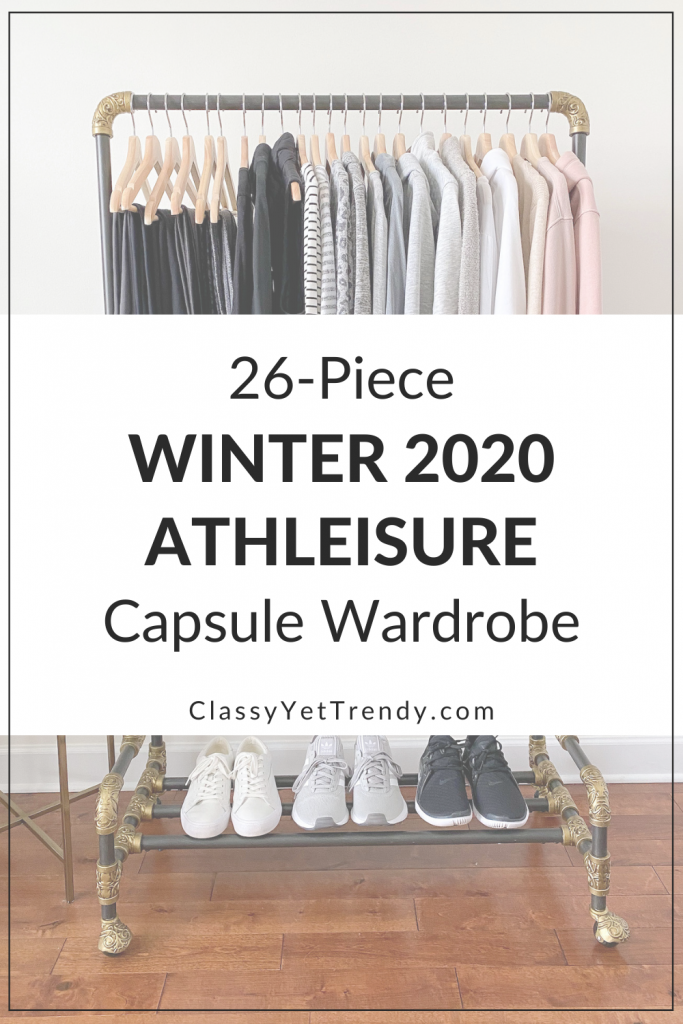 26-Piece Winter 2020 Athleisure Capsule Wardrobe - clothes rack