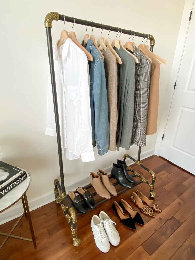 6 Ways To Wear White Button Down Shirt - outfits on clothes rack