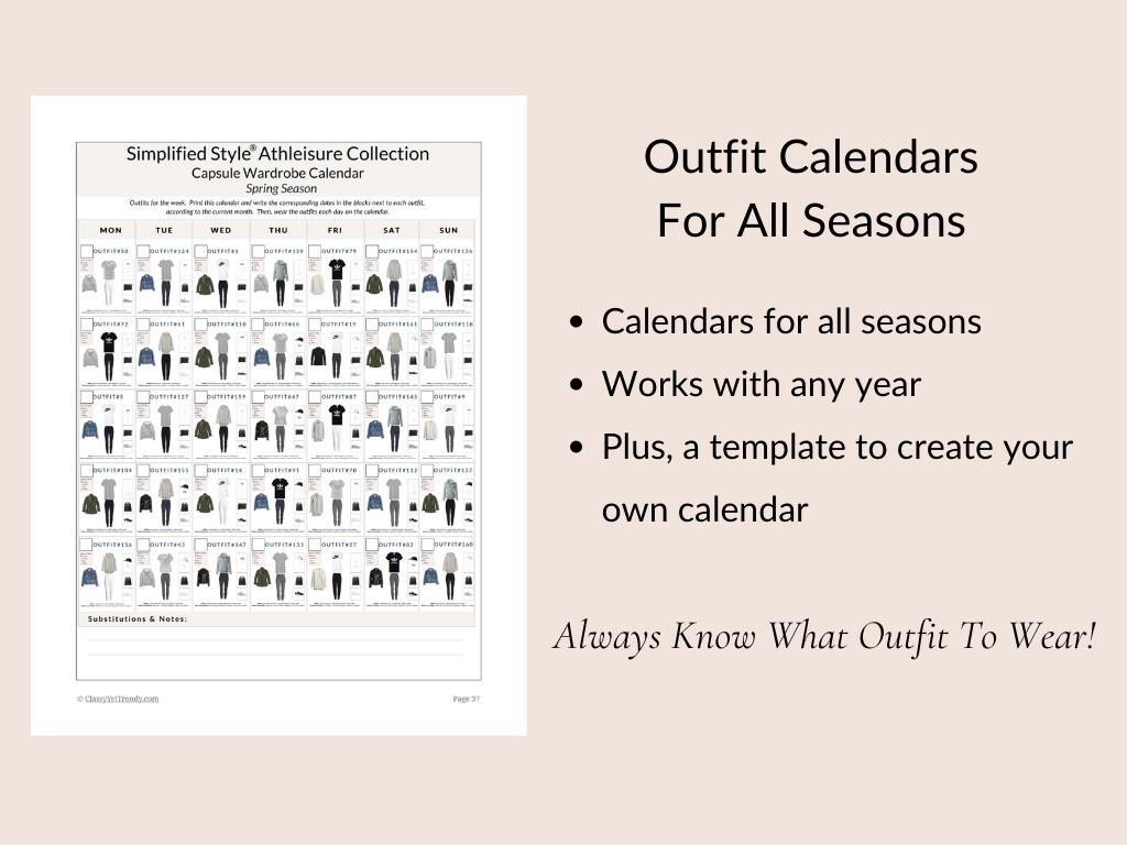 Simplified Style Athleisure - Calendar