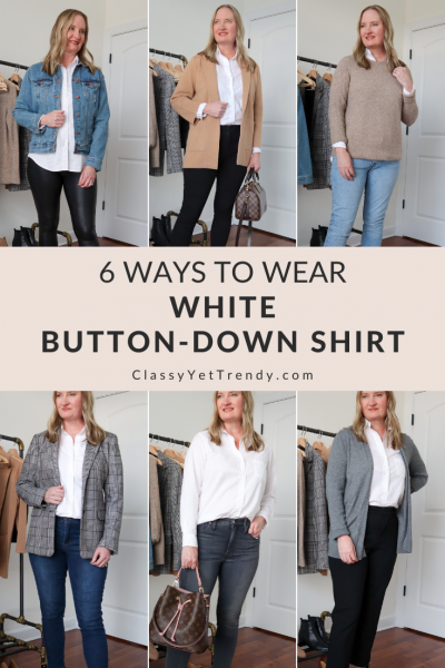 6 Ways to Wear White Button Down Shirt