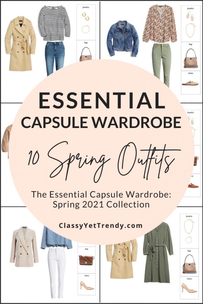 Essential Spring 2021 Capsule Wardrobe Sneak Peek - 10 Outfits