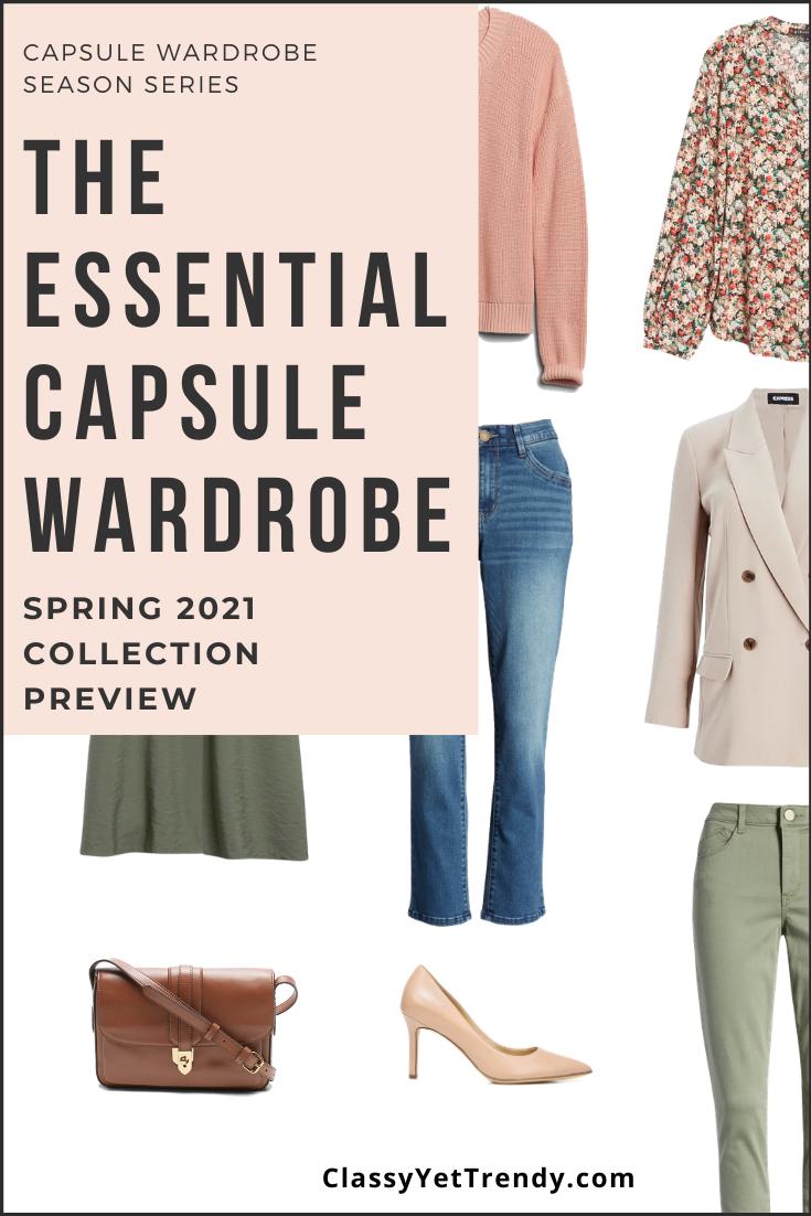 The Essential Spring 5 Capsule Wardrobe Sneak Peek + 5 Outfits