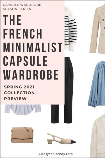 French Minimalist Capsule Wardrobe Spring 2021 Pin