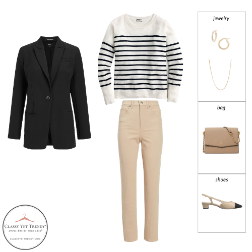 French Minimalist Capsule Wardrobe Spring 2021 - outfit 28