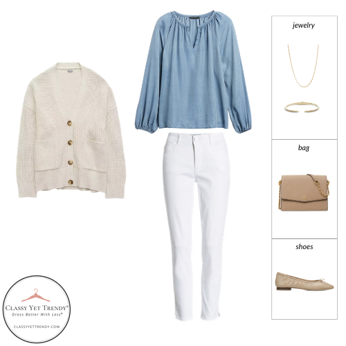 French Minimalist Capsule Wardrobe Spring 2021 - outfit 4