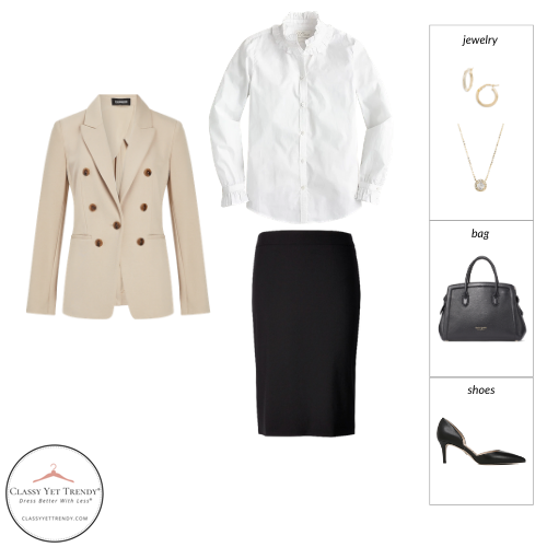 French Minimalist Capsule Wardrobe Spring 2021 - outfit 65