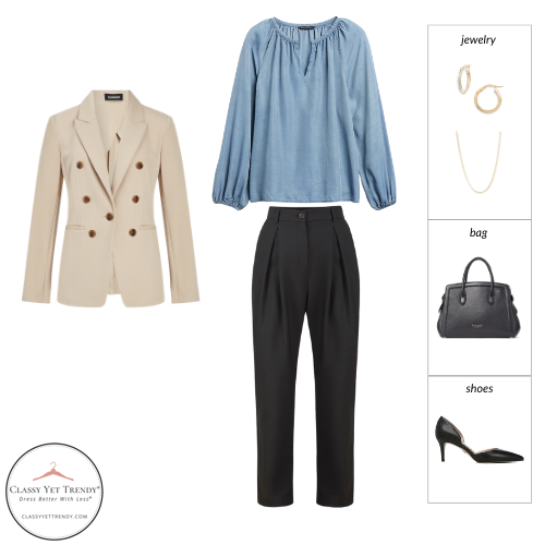 French Minimalist Capsule Wardrobe Spring 2021 - outfit 7