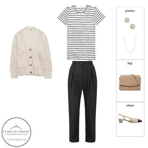 French Minimalist Capsule Wardrobe Spring 2021 - outfit 77