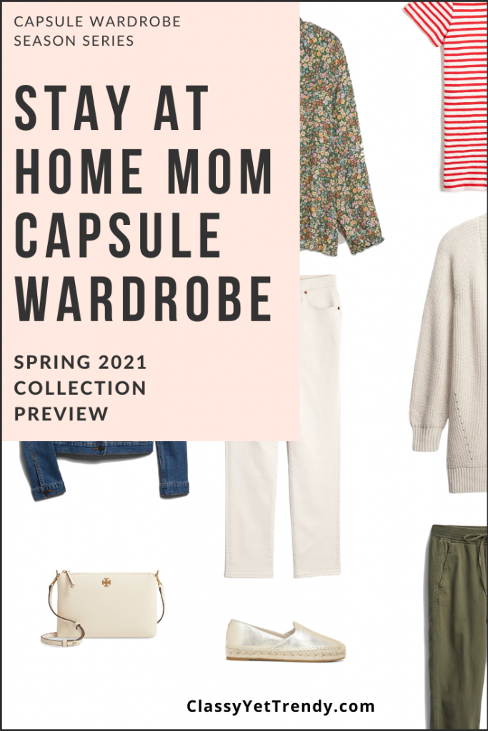 Stay At Home Mom Capsule Wardrobe Spring 2021 Pin