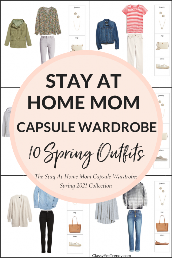 Stay At Home Mom Capsule Wardrobe Spring 2021 Preview - 10 Outfits