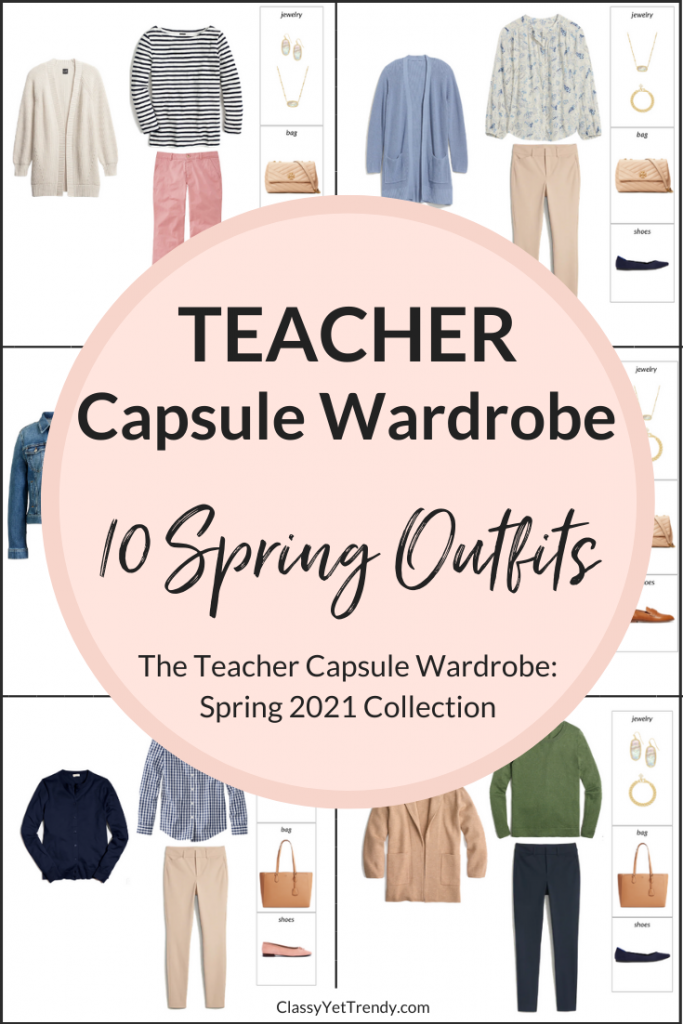 Teacher Capsule Wardrobe - Spring 2021 Outfits Preview