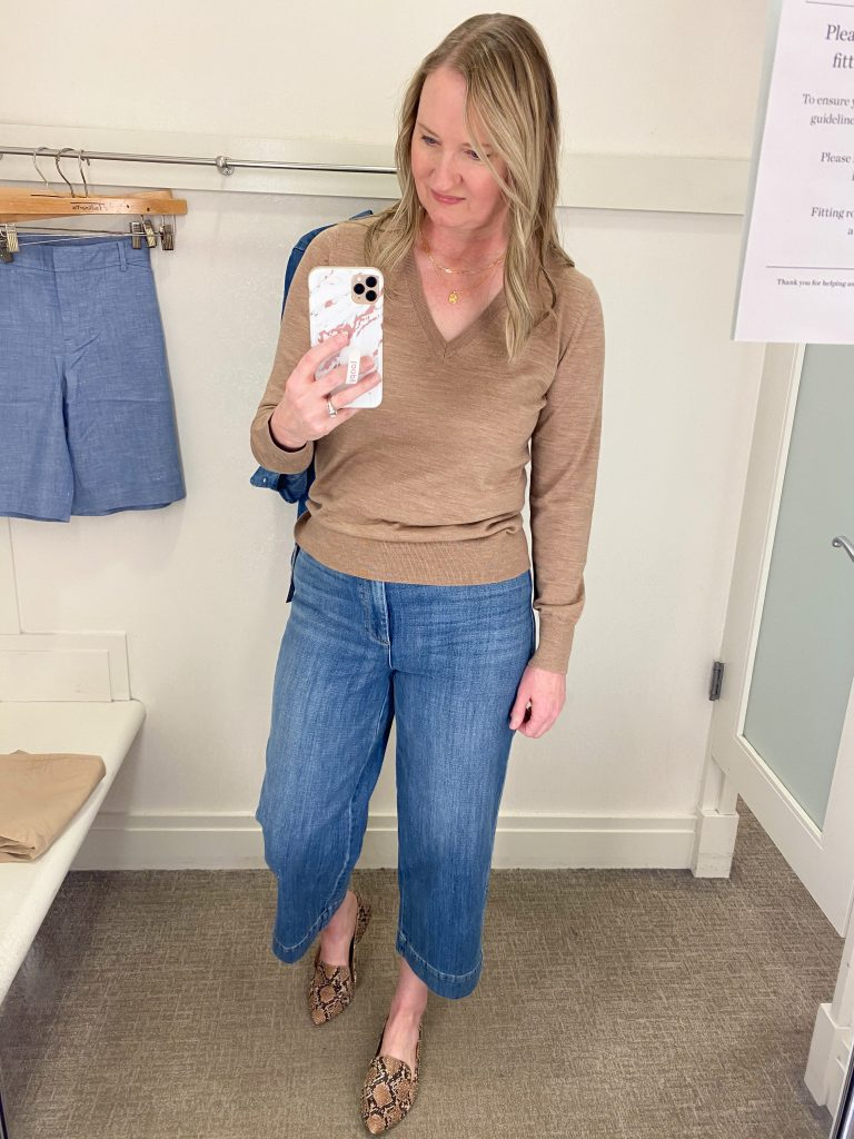 Try-On Session February 2021 - Talbots wide leg jeans