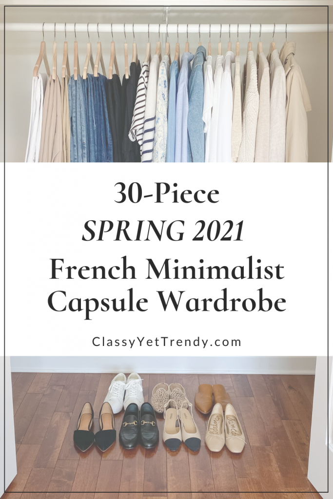 30-Piece Spring 2021 French Minimalist Capsule Wardrobe