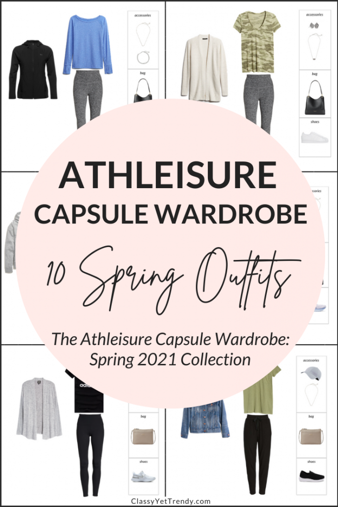 Athleisure Capsule Wardrobe Spring 2021 - 10 Outfits Pin1