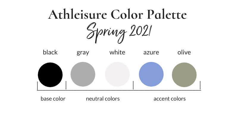 Athleisure Spring 2021 Color Palette