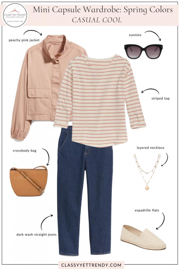 Mini Capsule Wardrobe Spring Colors - Casual Cool