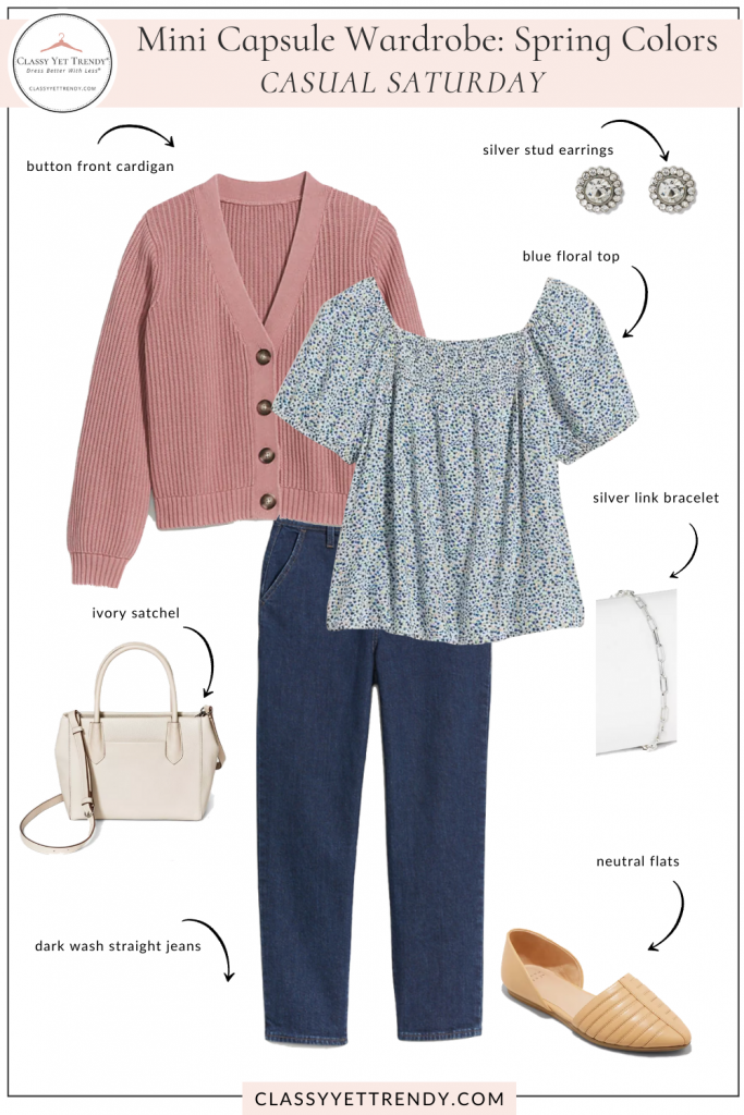 Mini Capsule Wardrobe Spring Colors - Casual Saturday