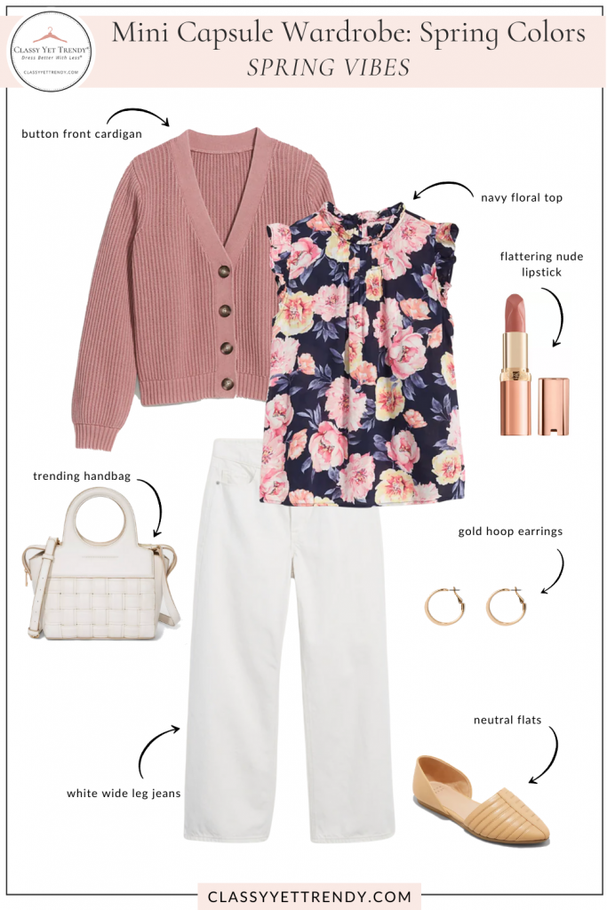Mini Capsule Wardrobe Spring Colors - Spring Vibes