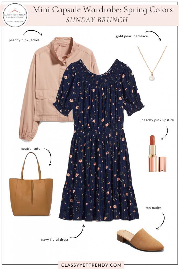 Mini Capsule Wardrobe Spring Colors - Sunday Brunch