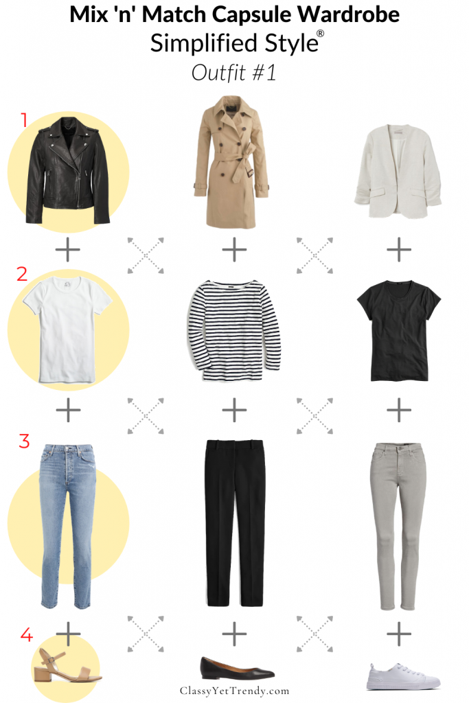 Mix n Match Capsule Wardrobe Simplified Style Outfit 1