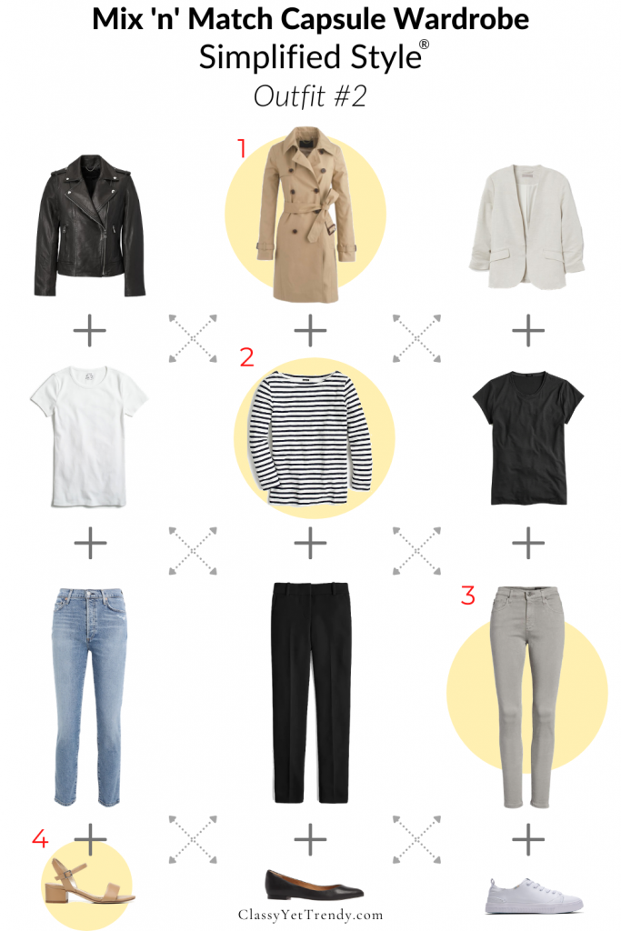 Mix n Match Simplified Style Capsule Wardrobe - Outfit 2